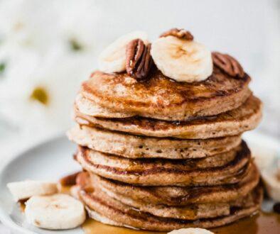 Banana Oat Pancakes Recipe - Healthy Breakfast - ScotMaple Foods - Providing Healthier Food Alternatives